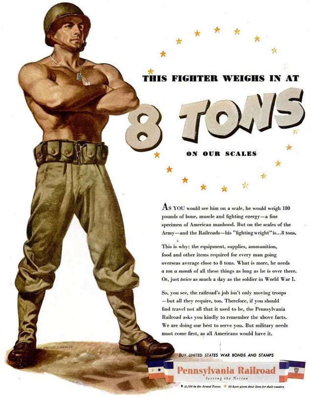 Wwii Pennsylvania Railroad Ad This Fighter Weighs In At