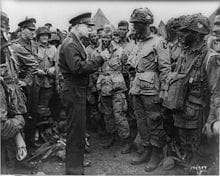 """Acclaim earned in blood"" - General Eisenhower Quote - General Dwight D. Eisenhower talking to 101st Paratroopers before D-Day"