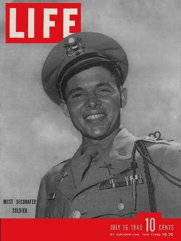 Audie Murphy Dog Tags - Life Magazine Cover of Audie Murphy