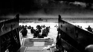 American troops hit Omaha Beach the morning of June 6 D-Day
