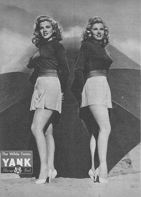 Yank Pin Ups - the Wilde Twins