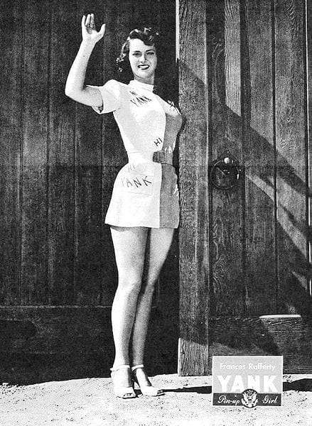 Yank Pin Up Frances Rafferty