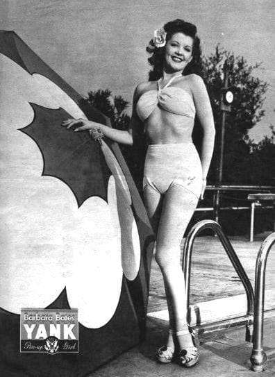 Barbara Bates - Featured Pin-up Girl in the Jun. 1, 1945 Issue of YANK, the Army Weekly