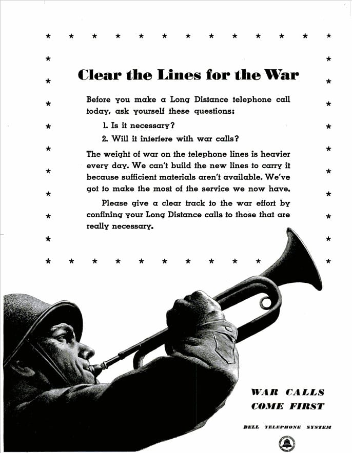 World War II Bell Telephone Ad