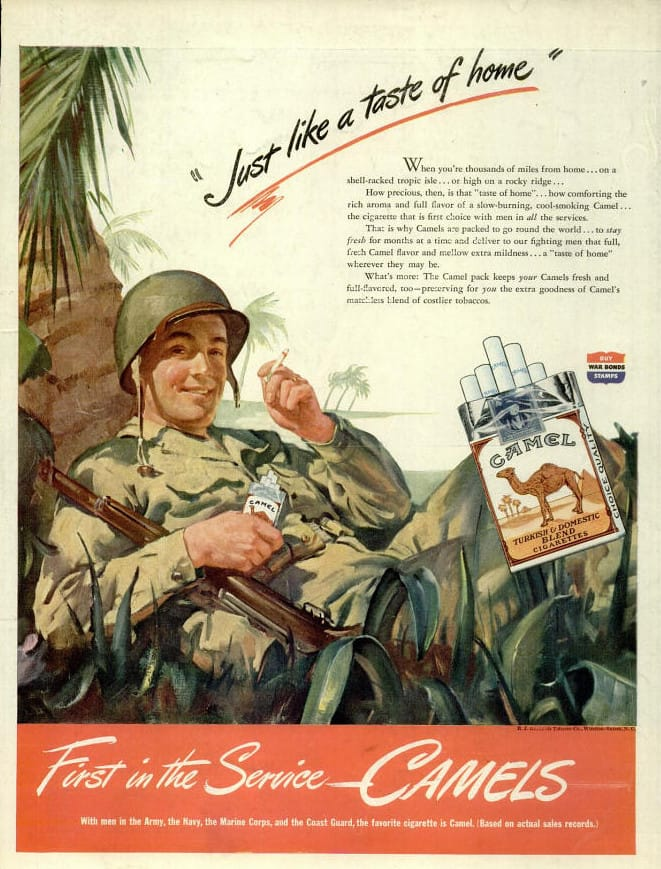 WW2 Camel Cigarette Ad July 1944