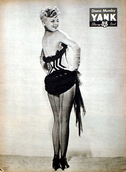 Diana Mumby YANK Magazine Pin-up Girl for August 4, 1944