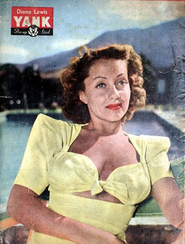 "Diana Lewis - YANK Pin-up Girl - 4 Aug 1944 ""Down Under Edition"""