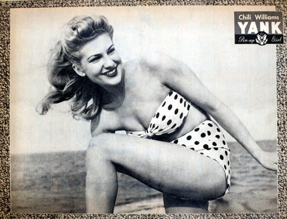 Chili Williams Yank Pin Up Girl Feb. 18, 1944