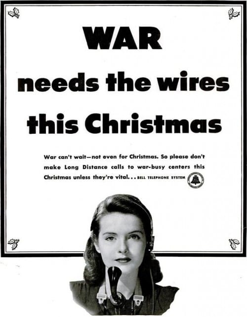 WWII Bell Telephone Ad December 1942