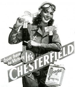 Carole Landis Chesterfield Ad