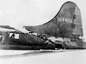 B-17 with Severely Damaged Tail